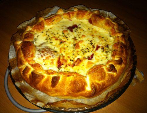 Torta salata con Provola Pomodoro e Prosciutto