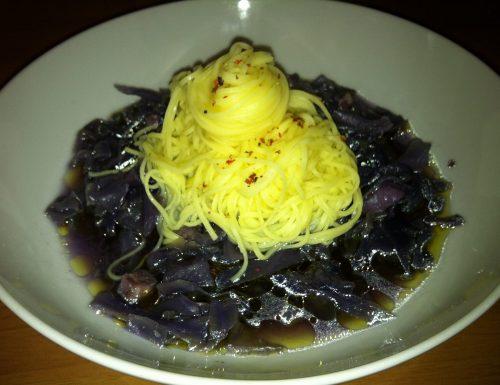 Tagliolini all'uovo con Cavolo Cappuccio Viola