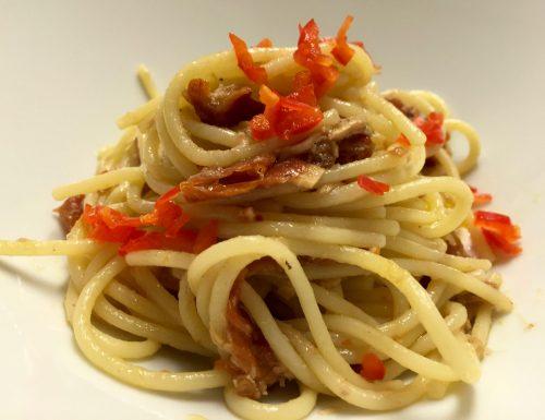 Spaghetti del Pastificio Gentile con tonno di Lampedusa